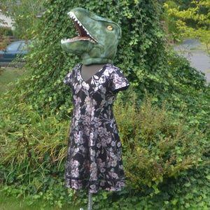 NWT Lane Bryant Metallic Foil Floral Dress